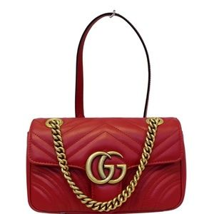 GUCCI GG MARMONT MINI LEATHER SHOULDER CROSSBODY